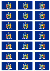 New York State Flag Stickers - 21 per sheet